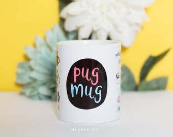 Pug mug, pug gift, gifts, coffee mug, 11 oz mug, birthday gift