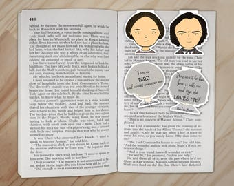 Jane Eyre Magnetic Bookmarks Set - Jane Eyre and Mr. Rochester Clips