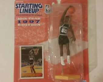 Starting Lineup, David Robinson Figure, San Antonio Spurs NIP, 1997