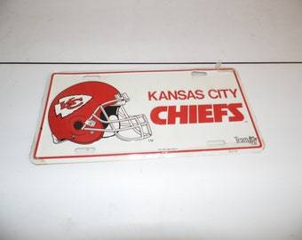 Vintage Kansas City Chiefs License Plate 1993