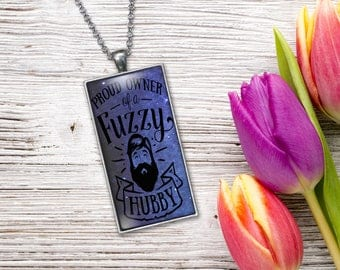Funny Gift for Beard Lover, Jewelry Pendant  Word Print Jewelry Necklace, Keepsake Gifts for Her, Birthday Anniversary Wedding Present
