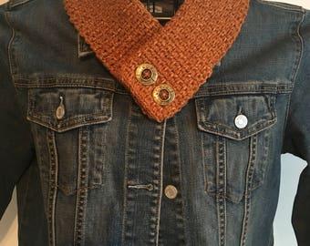 Button Collar Scarf