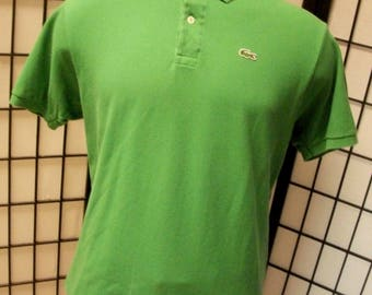 Lacoste alligator preppy adult green cotton polo shirt 4