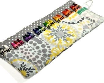 Floral Crayon Roll
