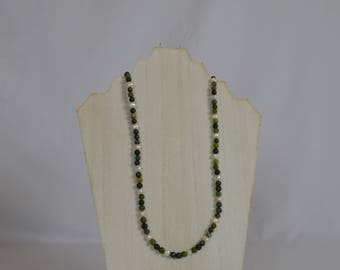 Pearl and Serpentine Necklace