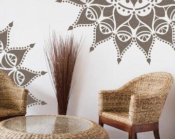NASHIK Mandala Stencil Indian Floor Wall Stencil - NASH01