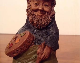 """Signed 1st Edition Tom Clark Gnome ~ """"Claude"""" the Artist Gnome ~ RETIRED ~ Vintage Fantasy Figurine of Cairn Studios"""