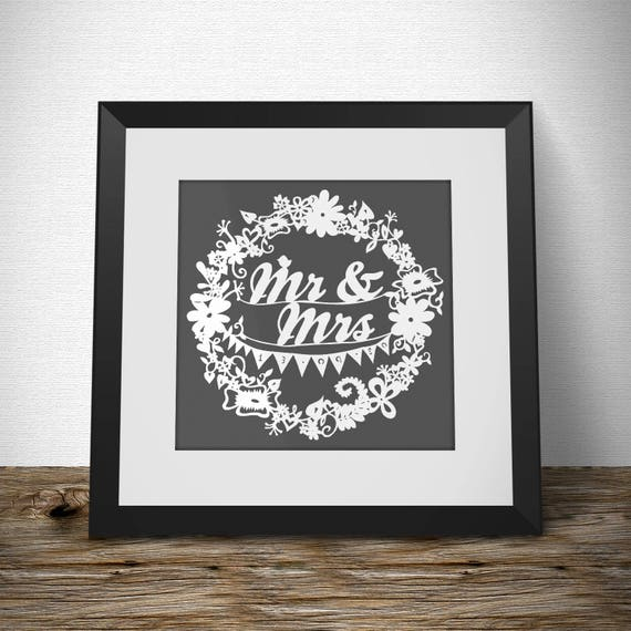 Wedding Gift Framed Art : Wedding Papercut framed, wedding date, wedding gift, wedding decor ...
