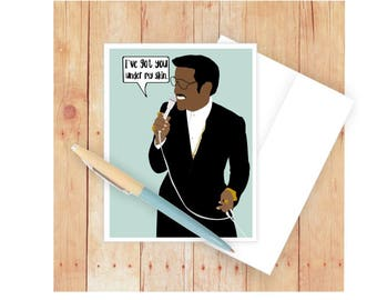 Romantic Card, Sammy Davis Jr., Love Card, Blank Card, Famous Person, Card for Girlfriend, Card for Wife, I Love You, African American