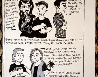PunkPuns original artwork - Page Four
