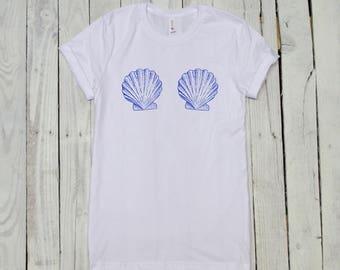 Mermaid Shirt - Mermaid Shell Shirt - Mermaid Top - Mermaid Shell - Shell Shirt