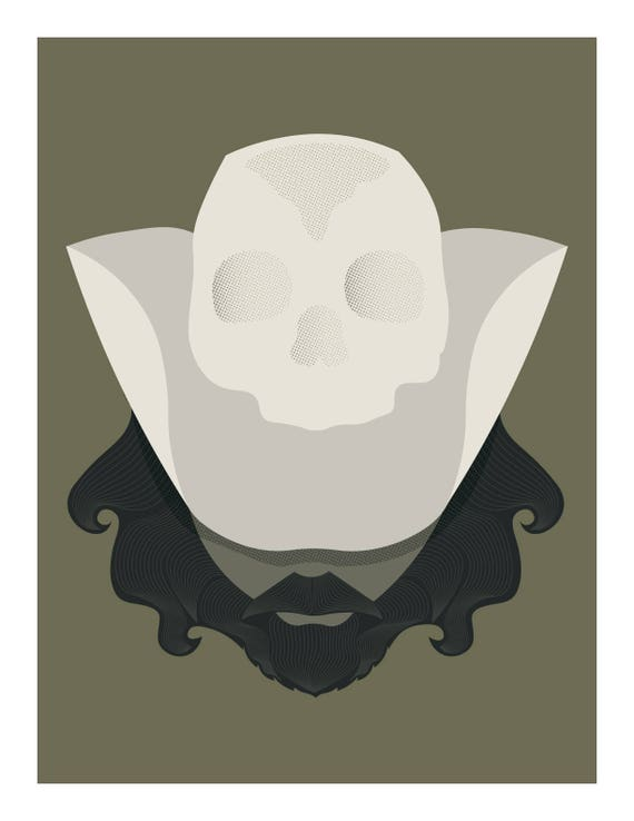 Bearded Man With Skull Cowboy Hat