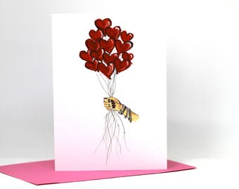 Greetings card / illustrated card / birthday card / for her / mothers day / celebration card / valentines / anniversary card / illustration