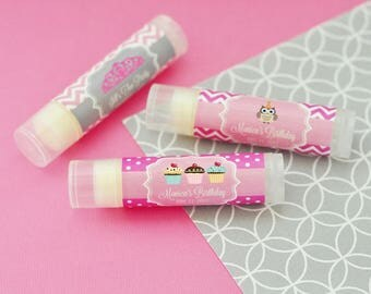 """Personalized Lip Balm Favors, """"Kid's Birthday"""" (Set of 24)"""