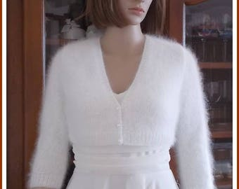 "TO order: Wife ""Kate Middleton"" white Angora Bolero"