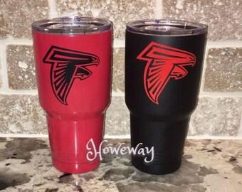 Atlanta Falcons Red 30 oz Yeti Rambler Tumbler / ATL