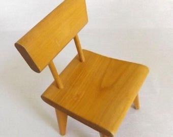 CIJ SALE VIntage STROMBECKER Doll Chair - Mid Century Style Hardwood Chair for Barbie - Mid Century Decor