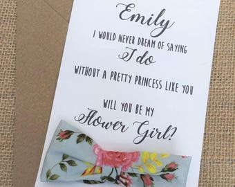 Will you be my Flower Girl Card Invitation Card