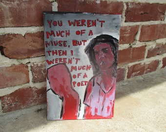 nick cave inspired print and painting mixed media, nick cave art, nick cave quote, nick cave lyrics, nick cave and the bad seeds, muse