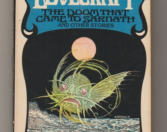 1976 The Doom That Came To Sarnath and Other Stories, 2nd Printing, Horror Paperback. H. P. Lovecraft. VF. Ballantine Books