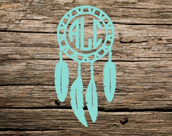 Dream Catcher Monogram Decal