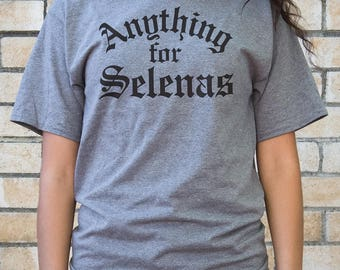 Anything for Selenas (Old English) - Men Shirts - Oxford Grey - Men's 6.1 oz Heavy T-Shirt