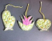 Cacti and Bromeliad Ornaments - handmade