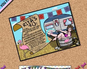 Trailer Trash Birthday invite Trailer trash Party invite Redneck party