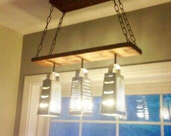 Farmhouse Lighting Grater Chandelier - Modern Ceiling Light - Industrial Chandelier - Dining Fixture