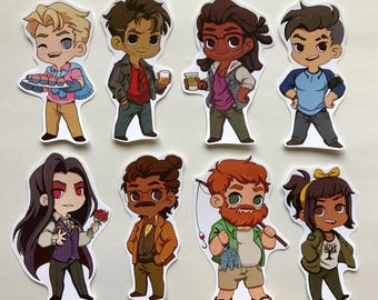 Dream Daddy Stickers
