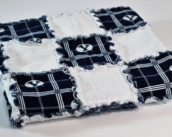 BYU Cougars Rag Quilt