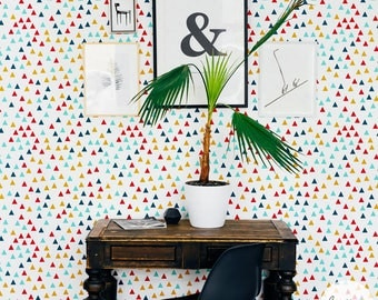 Geometric Pattern Wallpaper / Colorful Self Adhesive or Traditional Wallpaper