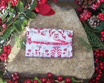 Scandinavian Yule Tissue Case Holder - Gift Under 10 Dollars - Stocking Stuffer - Gift Card Holder - Heathen Yule - Folk Art - Reindeer