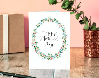 Floral Wreath Mother's Day Card