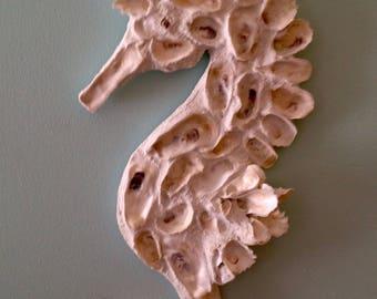 Handmade Oyster Shell Seahorse