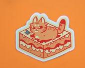 Large Lasagna Cat Vinyl Sticker