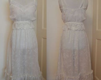 1970s Lace-Trimmed Camisole and Petticoat Half Slip Promises by Poirette M