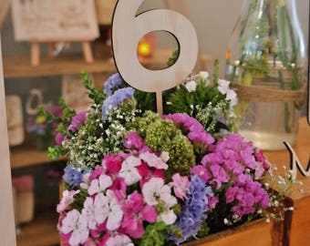 Wooden Table Numbers - Rustic Wooden table number.