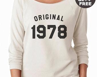 40th birthday for gift sweatshirt 1978 tees funny graphic shirt birthday shirt sweater pullover sweatshirt crewneck sweater women sweatshirt