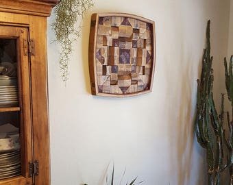 Wine Barrel Stave Wall Art