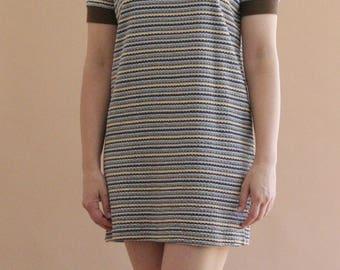 VANS 90s striped polo mini dress