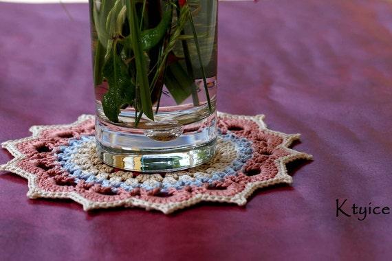 欣赏原创设计钩针杯垫的图案花片(简易系列) - maomao - 我随心动