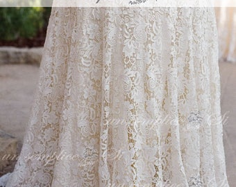 Lace Tablecloth Overlay, Giupure Lace,  French Venice Lace , Venetian Lace