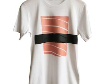 Salmon Sushi T-Shirt, Silkscreen Nigiri Print