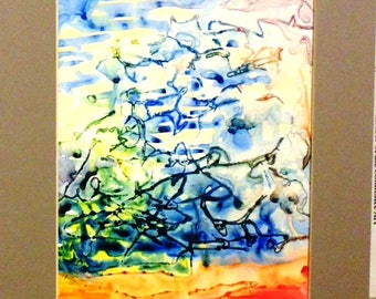 Abstract, Multi-media - The viewer may see what appears to be recognizable images within the abstract.