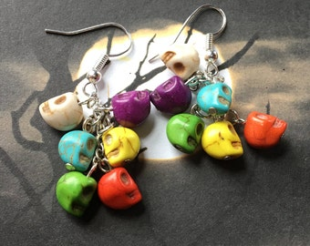 Halloween Jewelry, Halloween Earrings, Skull Earrings, Halloween Gift Idea, Earrings