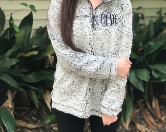 Monogramed Frosty Fleece Sherpa Pullover