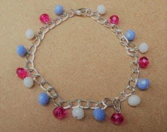 Handcrafted Beautiful Transgender Crystal Ankle Bracelet
