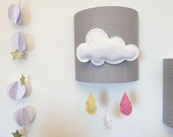 abat jour suspension oiseau fanions. Black Bedroom Furniture Sets. Home Design Ideas