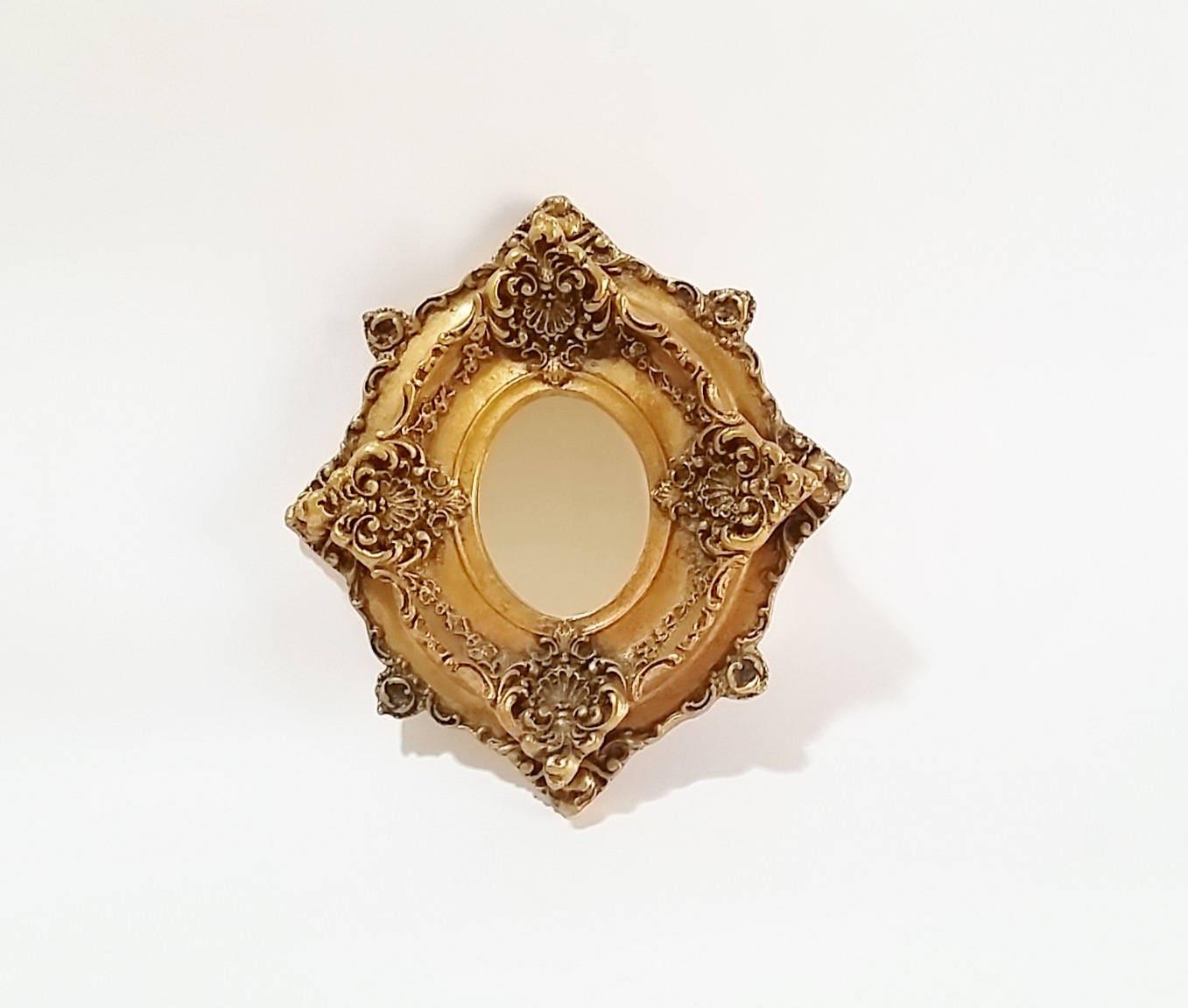 Decorative Gold Mirrors. Vintage Gold Mirrors  Round Mirror Small Wall Decorative